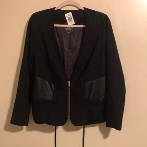 Torrid   Corset Faux Leather/Cotton Jacket